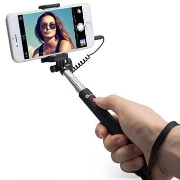 Selfie stick estensibile con pulsante di scatto