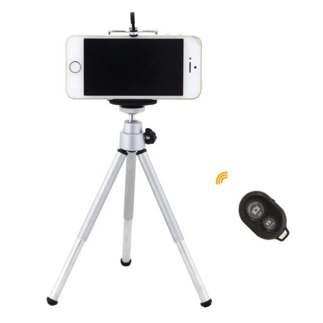 Mini treppiede per smartphone con telecomando Bluetooth Tarion