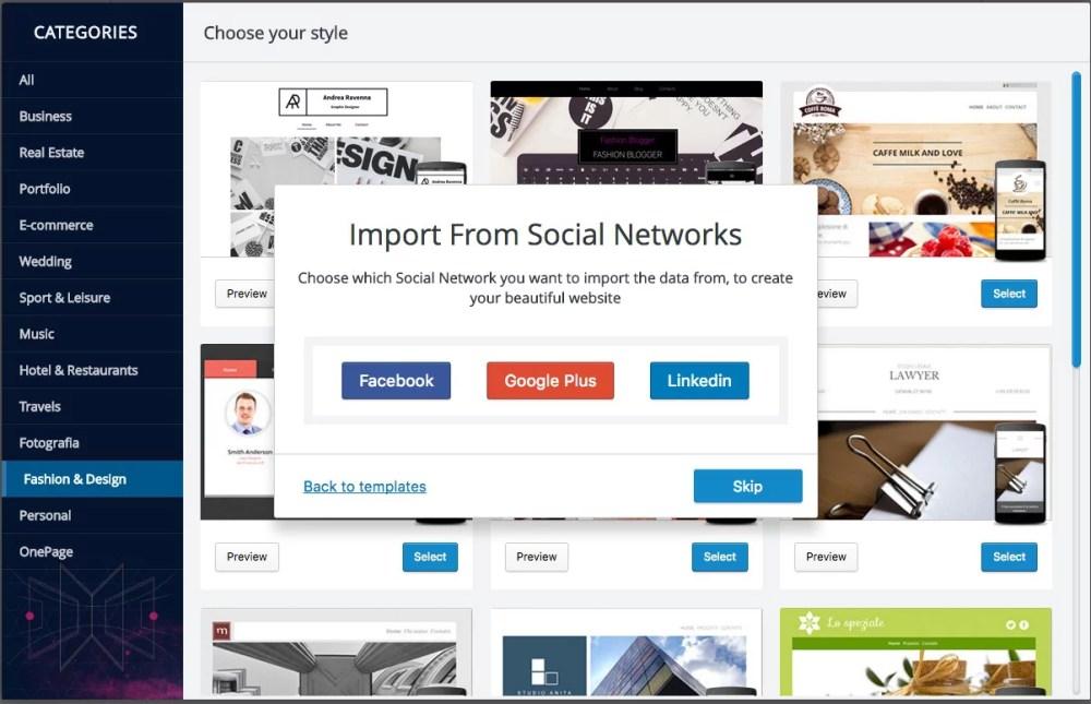Flazio: trasforma una pagina Facebook in un sito web