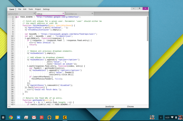text editors for Chromebook