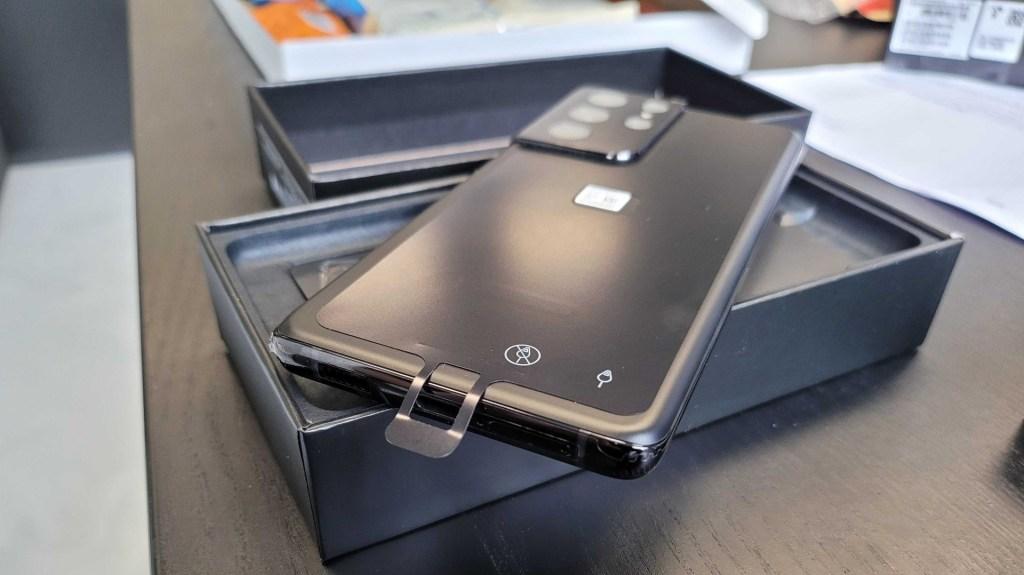 Galaxy S21 Ultra - Avertissement tiroir SIM