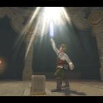 Link brandissant l'épée divine