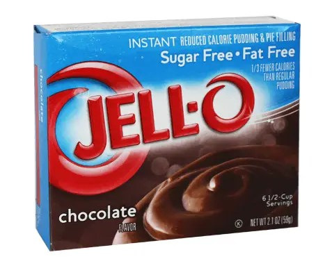 Jello Instant Chocolate Pudding is a Great Low-Glycemic Dessert