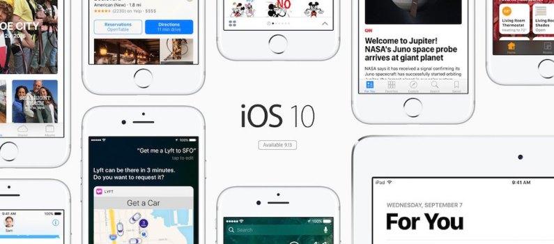 iOS 10 dispositivos compatibles