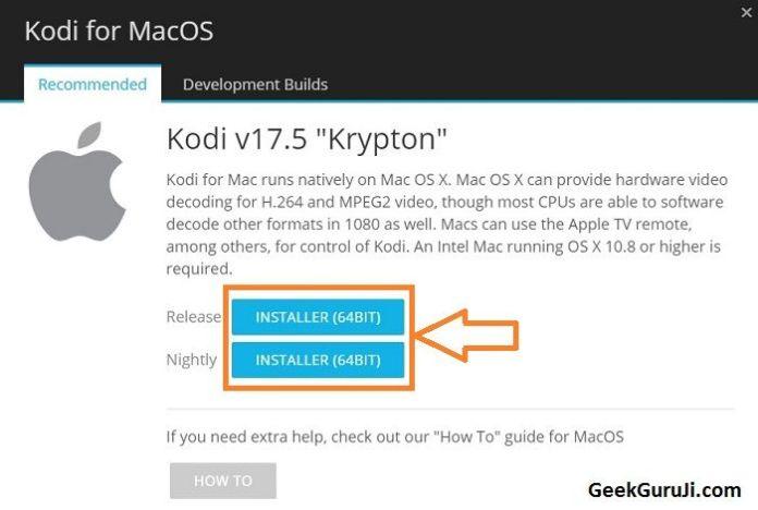 How to Update Kodi onMac