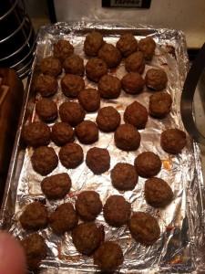Turkey meatballs. Photo: A Saucey Gent.