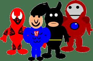 Superheroes sometimes work together. Let's do the same!