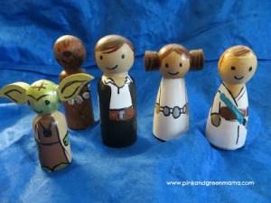 Wooden Peg Dolls Star Wars
