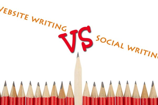 Website writing vs Social writing