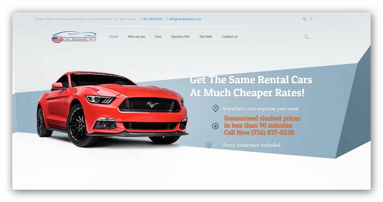web design-for-car-rental-website