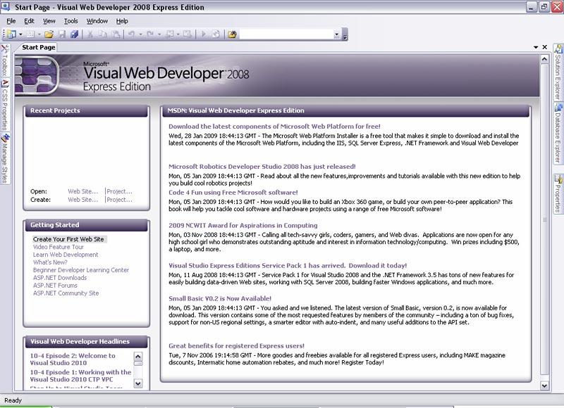 visual studio 2008 free download for asp.net