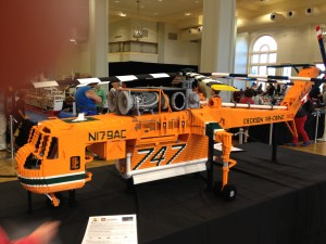 LEGO helicopter at Sydney Brick Show