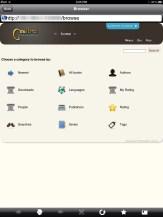 uBooks xl Web Browser and Calibre Server