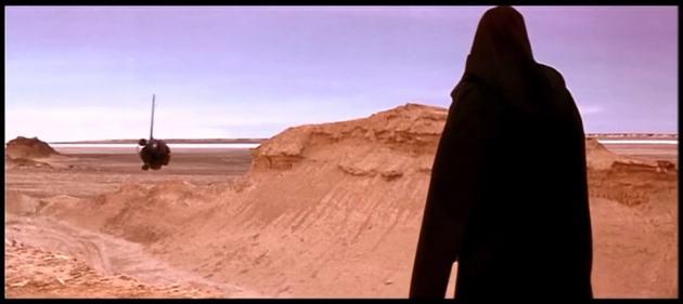 """Miejsce lądowania Darth Maul'a - kadr z filmu """"Gwiezdne Wojny: Mroczne Widmo"""""""
