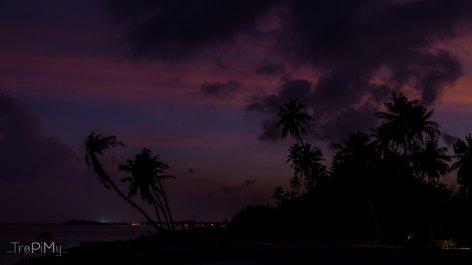 zachód słońca na Huraa