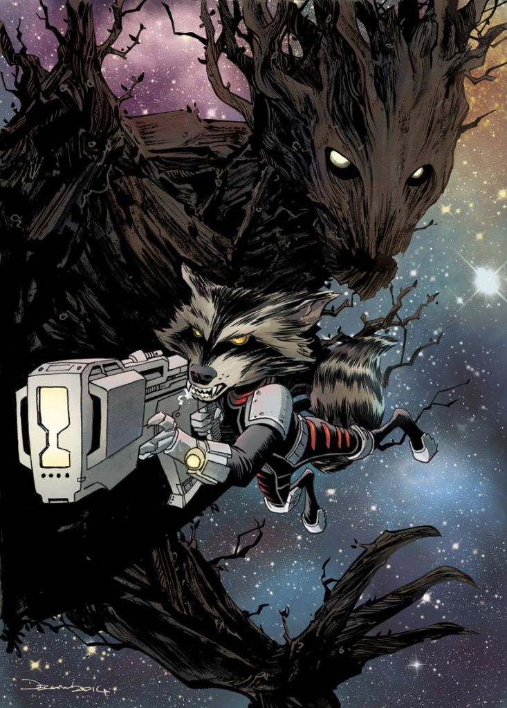 Dec Shalvey's Rocket Raccoon & Groot w/ Colours by Ruth Redmond