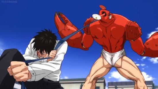 Saitama fights the mighty Crablante