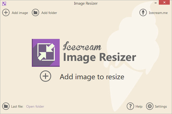Icecream Image Resizer, ridimensionare immagini mediante preset