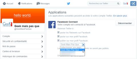 #9 : Choisir la page Facebook