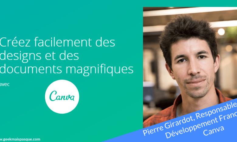 Photo of Pierre Girardot présente Canva, l'outil de création graphique pour tous