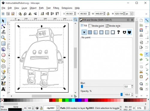 Inkscape Fill and Stroke Dialog