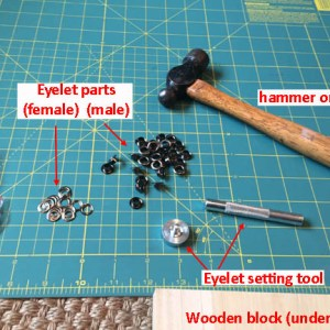 Tools for eyelet setting