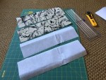 Line accent fabric with fusible backing