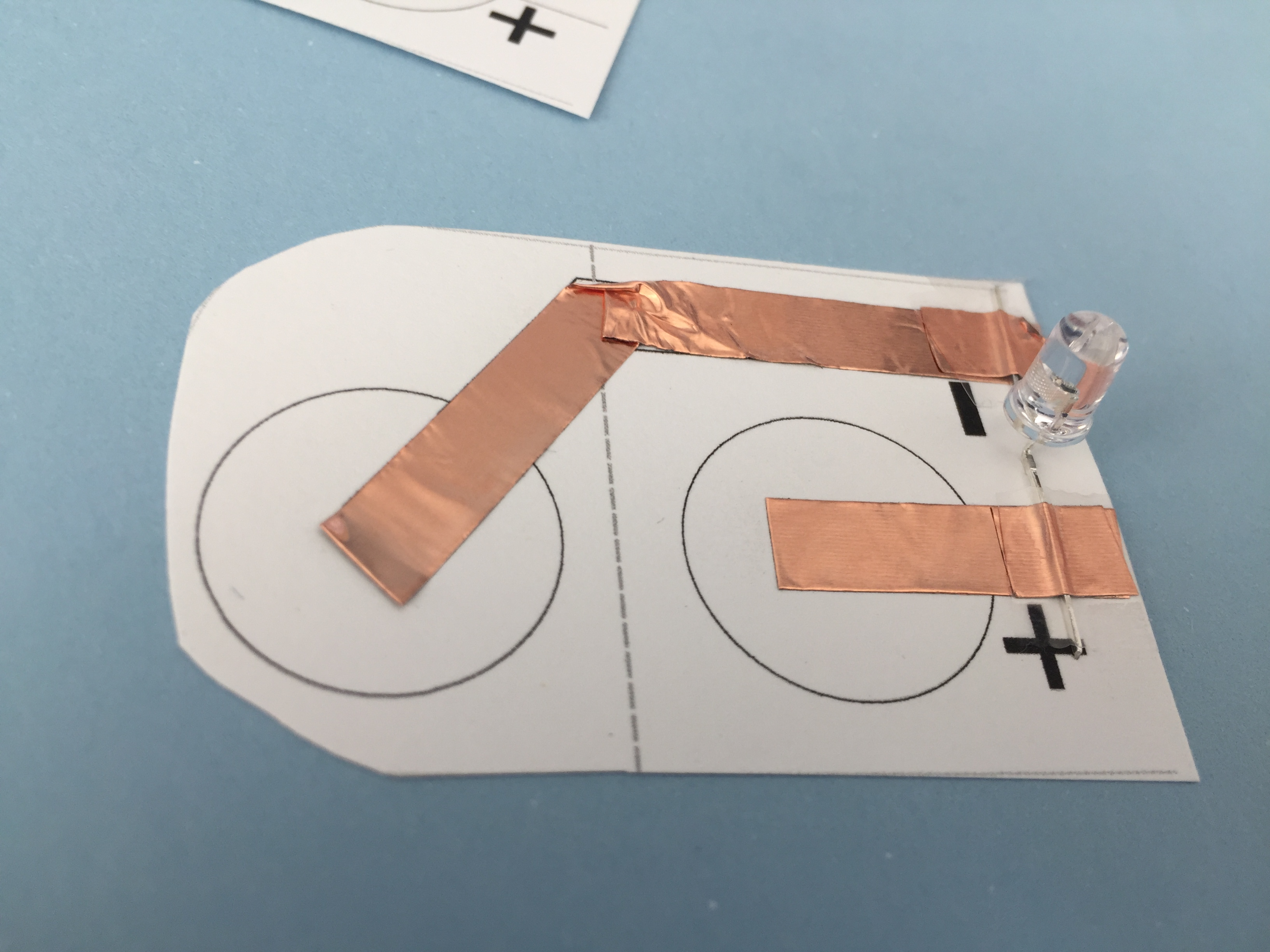 color changing decorations with paper circuits