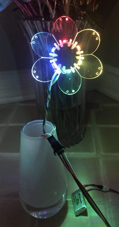 Powered Flower: Edge-Lit Acrylic LED Flower – Geek Mom Projects