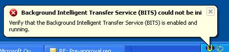 Background intelligent transfer service Missing? Here's a Fix