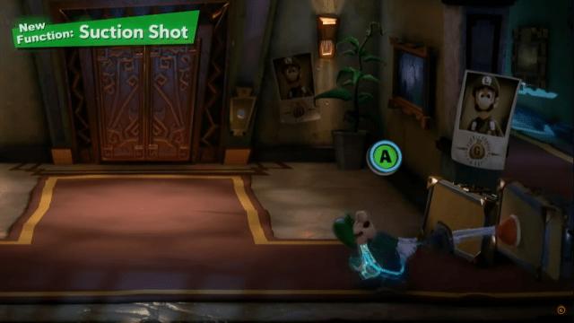 Suction Shot Luigi's Mansion 3