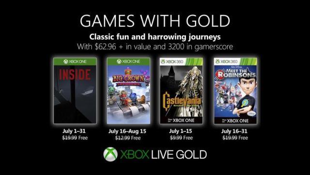 Games With Gold – Le programme du mois de juillet