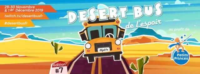 Le Desert Bus de l'Espoir – Un marathon caritatif pour soutenir l'Association Petits Princes