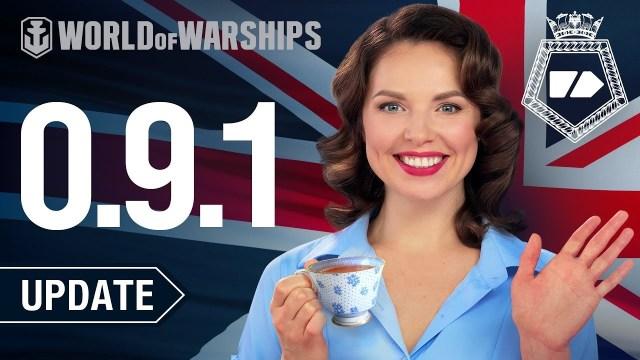 World of Warships – Une nouvelle mise à jour introduit les croiseurs lourds de la Royal Navy et un nouveau commandant