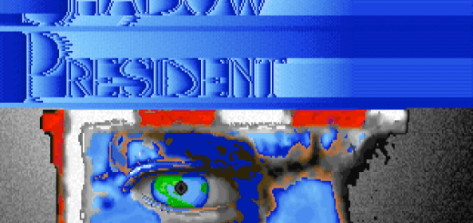 Shadow President title screen. DC True, copyright 1992.