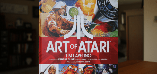 "Hardcover copy of ""Art Of Atari"", by Tim Lapetino."