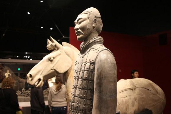 Saddled War Horse and Calvaryman, Terracotta Army, circa 221-206 BCE.