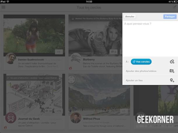 Google Plus iPad - Geekorner - 01