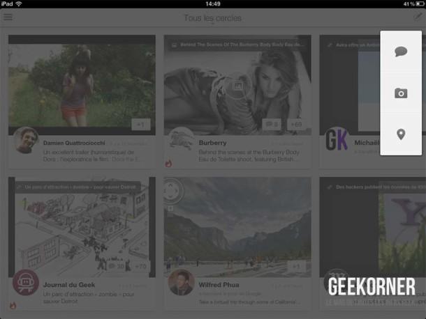 Google Plus iPad - Geekorner - 05