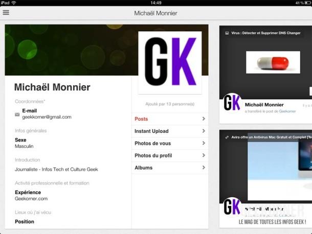 Google Plus iPad - Geekorner - 10