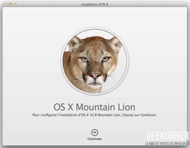 Installer Mountain Lion - Geekorner  - 01