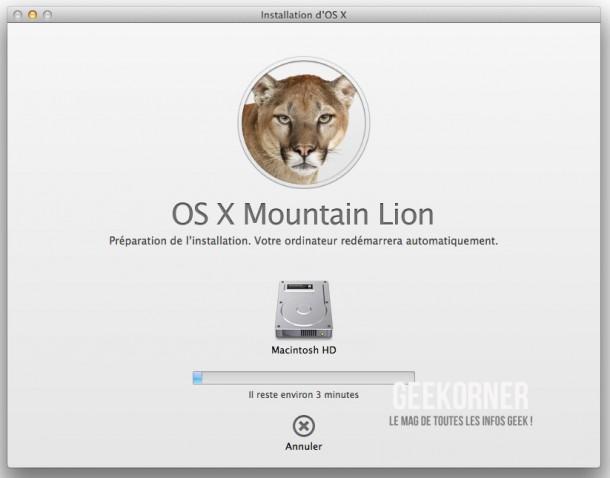 Installer Mountain Lion - Geekorner  - 06