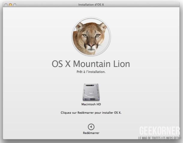 Installer Mountain Lion - Geekorner  - 07