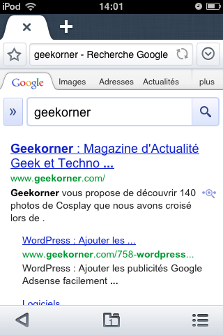 Maxthon iPhone Test - Geekorner - 002