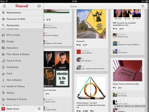 Pinterest iPad - Geekorner - 04