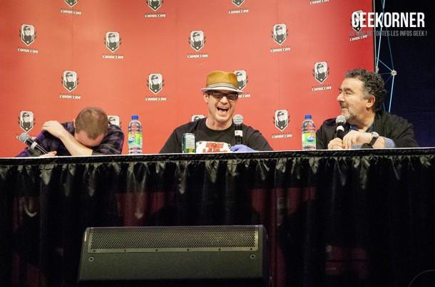 Warehouse 13 - Eddie McClintock - Saul Rubinek - Aaron Ashmore - Comiccon Montréal 2012 - Geekorner - 023