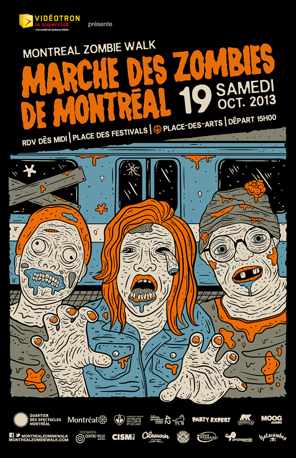 MARCHE ZOMBIES MONTREAL 2013 - AFFICHE