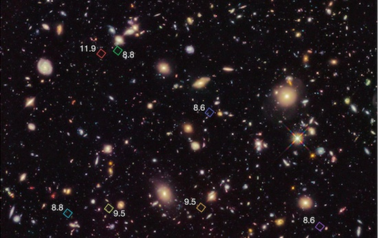 Hubble Telescope Discovers Seven Galaxies From The Dawn Of ...
