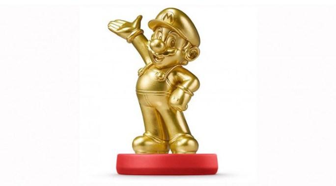 Un Mario Amiibo doré qui s'arrache