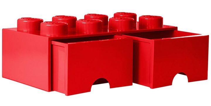 Les tiroirs Lego en forme de briques
